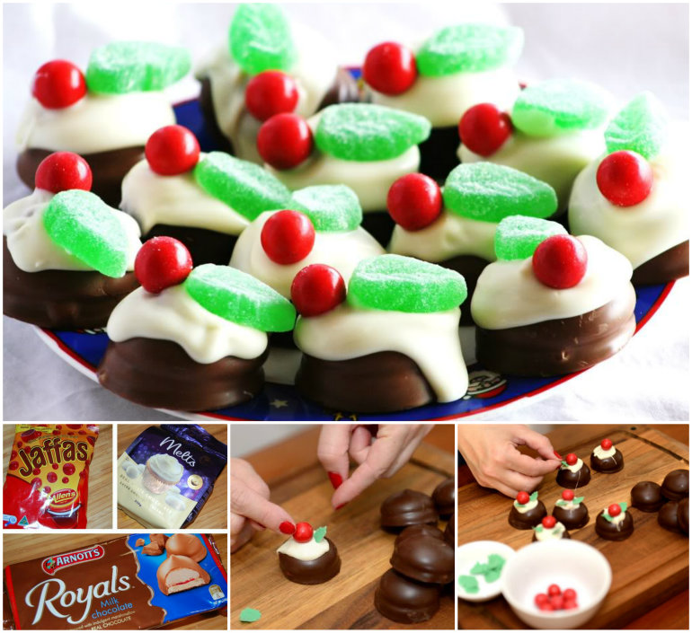 Mini Christmas Chocolate Puddings wonderful diy Wonderful DIY No Bake  Chocolate Ripple Cake