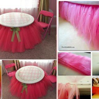Wonderful DIY No Sew Beaded Tutu Bedskirt
