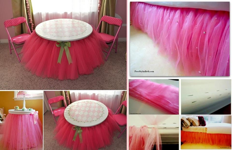 No Sew Beaded Tutu Bedskirt wonderful DIY1 Wonderful DIY No Sew Beaded Tutu Bedskirt