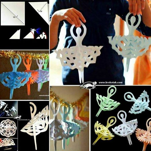Paper Ballerina Snowflakes Wonderful DIY Paper Snowflake Ballerina Decoration