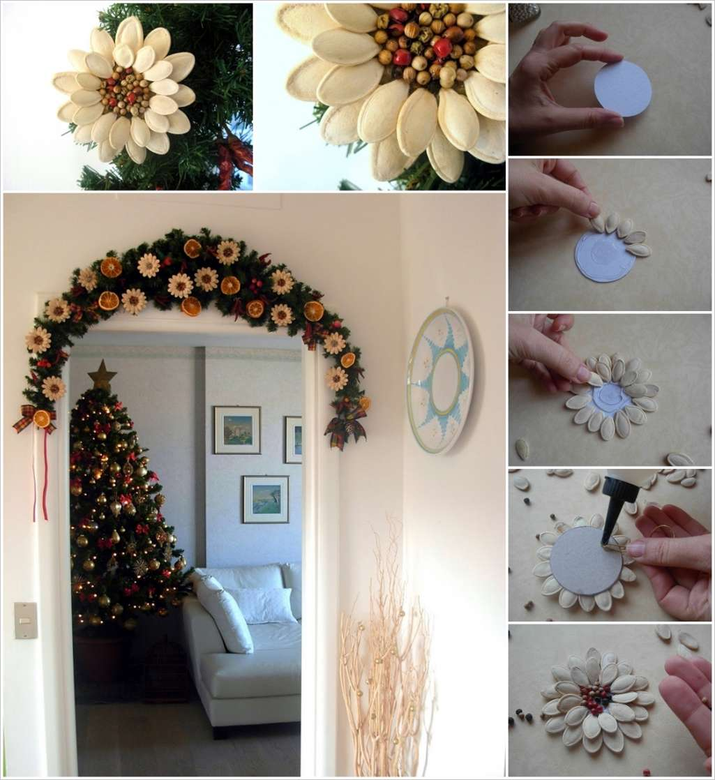 Pumpkin Seed Flowers wonderfuldiy Wonderful DIY Pumpkin Seed Flower Decoration