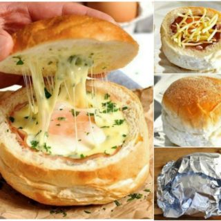 Wonderful DIY Quick Egg and Cheese Bread Bowl