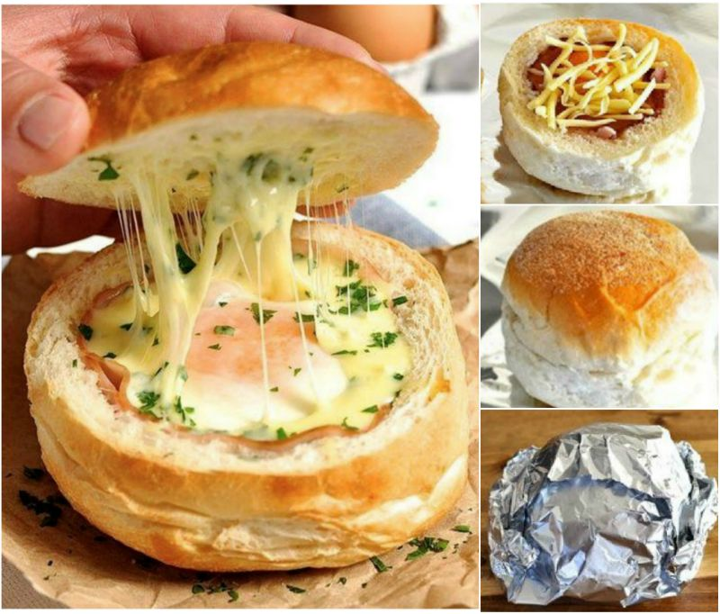 Quick Egg and Cheese Bread Bowls Recipe wonderful DIY Wonderful DIY Quick Egg and Cheese Bread Bowl