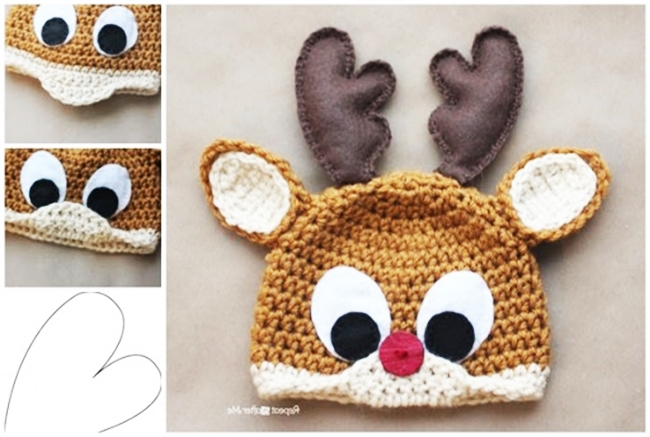 Wonderful DIY Crochet Reindeer Hat with Free Pattern 5b601883470