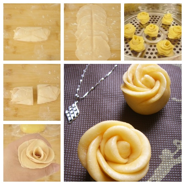 Rose steamed bread- wonderful DIY2