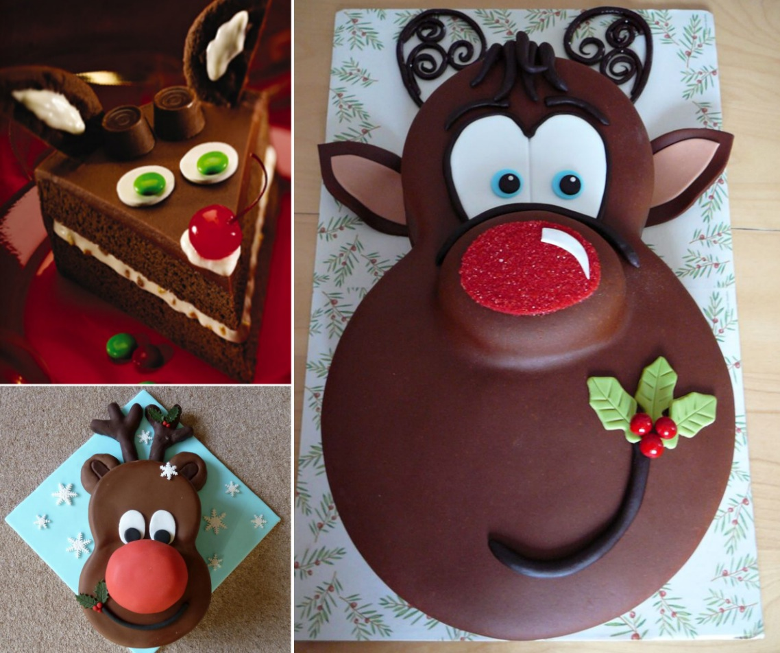 Rudolph Christmas Cake wonderful diy1 Wonderful DIY Cute Christmas Rudolph Cake