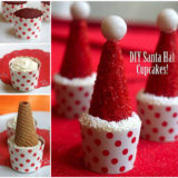 Wonderful DIY Easy Santa Hat Cupcake