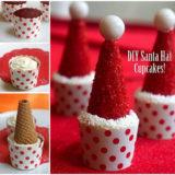 Wonderful DIY Easy Santa Hat Cupcake