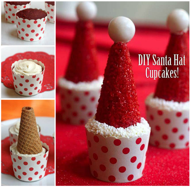 Santa-Hat-Cupcake-wonderful DIY