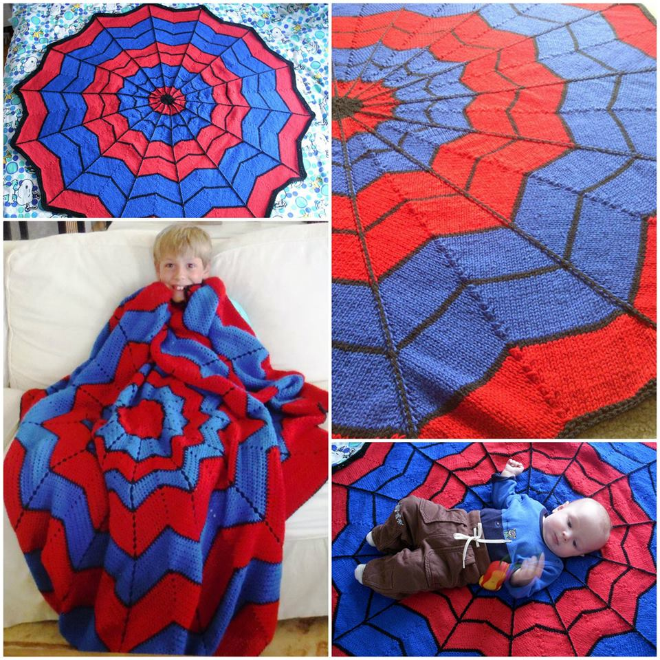Spiderman Blanket Free Crochet Pattern wonderfuldiy. Wonderful DIY  Crochet Spiderman Blanket  with Free  Pattern