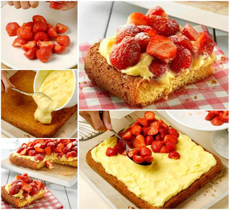 Strawberry Custard Cake wonderfuldiy Wonderful DIY Magic Custard Cake