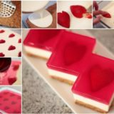 Wonderful DIY Yummy Strawberry Heart Jelly