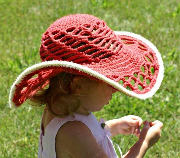 baby crochet sun hat