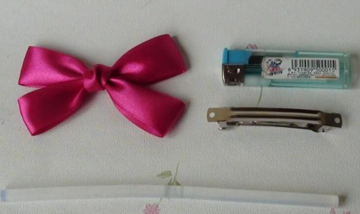 bow hairclip-wonderful DIY 8