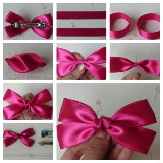 Wonderful DIY Easy and Cute Bow Hairclip