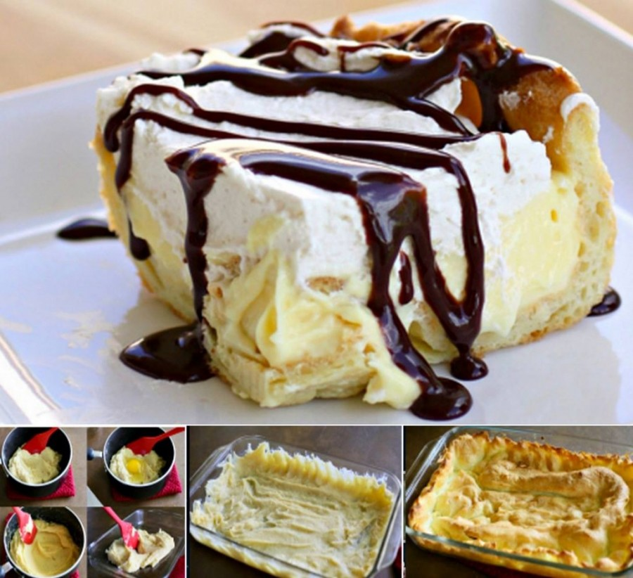 chocolate eclair cake wonderfuldiy Wonderful DIY No Bake Chocolate Raspberry Cheesecake