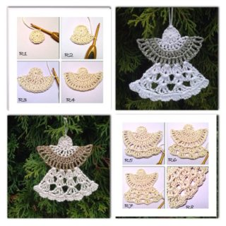 Wonderful DIY Crochet Angel Ornaments with Free Pattern