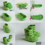 Cuddly Crochet Baby Booties – Free Pattern and Tutorial