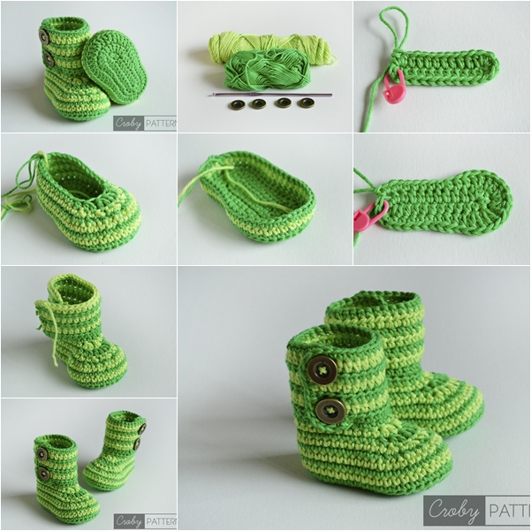 Cuddly Crochet Baby Booties - Free Pattern and Tutorial