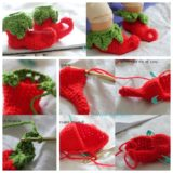 Wonderful DIY Crochet Chili Elf Baby Shoes  with Free Pattern