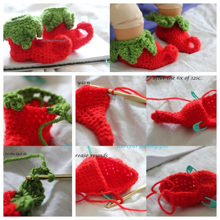 crochet chilielf baby shoes free pattern wonderful DIY Wonderful DIY Crochet Chili Elf Baby Shoes  with Free Pattern