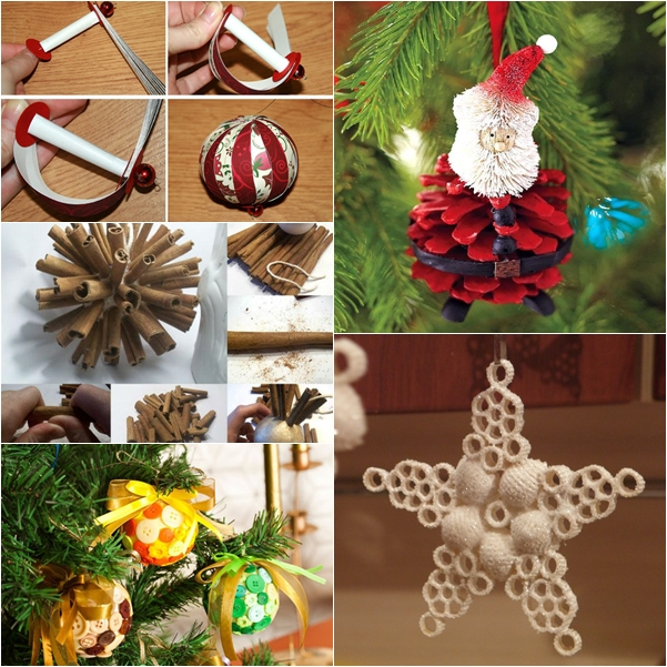 wonderful diy 30 homemade christmas ornaments - Cute Homemade Christmas Decorations