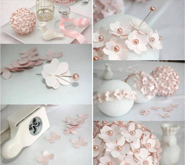 homemade-christmas-tree-ornaments-paper-flowers-pins-foam-ball