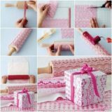 Wonderful DIY Easy Self-Print Lace Pattern Gift Wrap