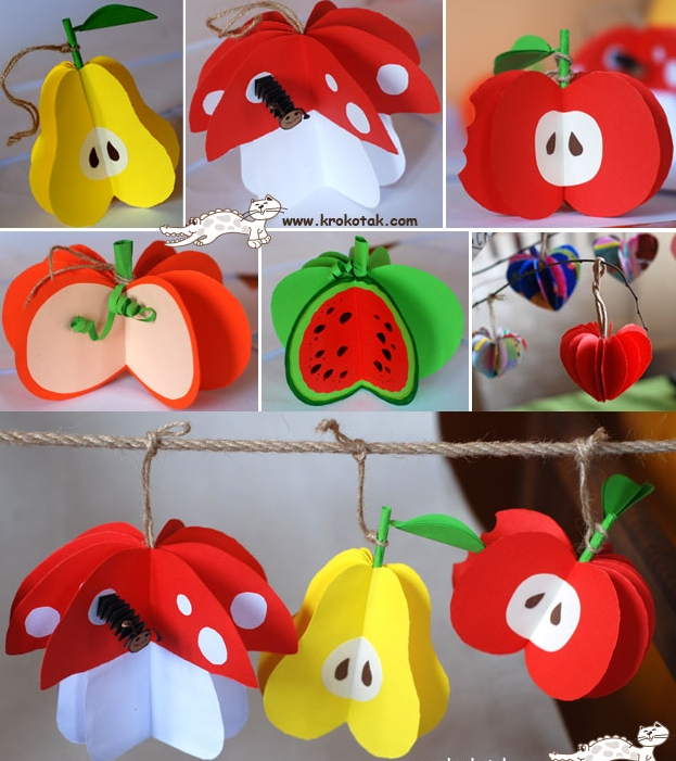 3d paper fruit craft wonderful diy paper fruit ornaments 3299