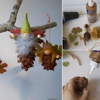 Wonderful DIY Cute Pine Cone Fairy Ornaments