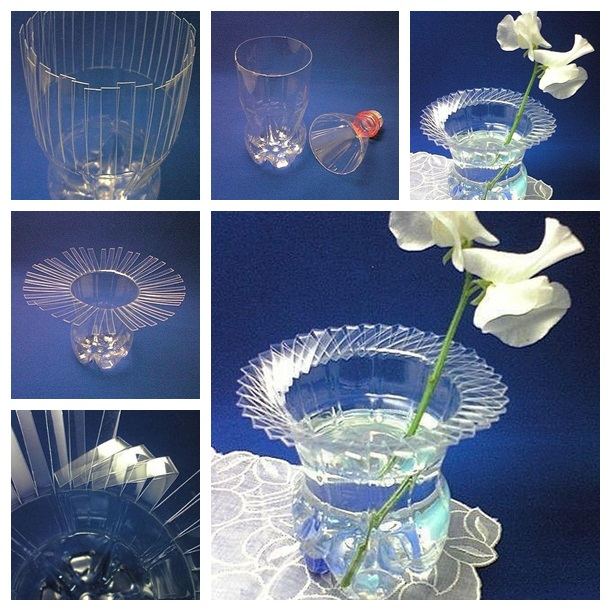 plastic bottle vase wonderful DIY F Wonderful DIY Woven Plastic Bottle Vase