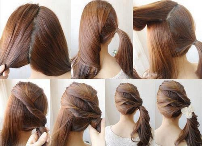 quick hairstyle in 3 minutes- wonderful diy51