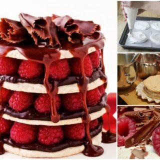 Wonderful DIY Chocolate Raspberry Meringue Stacks
