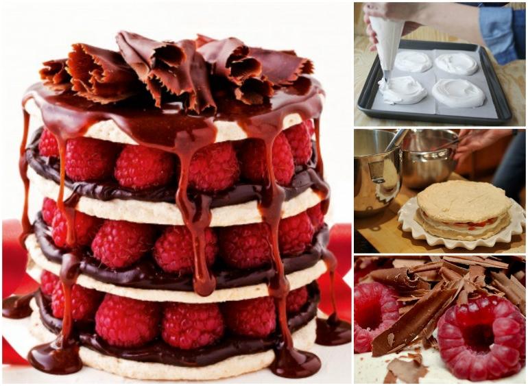 raspberry and Chocolate Meringue Stacks wonderful DIY1 Wonderful DIY Chocolate Raspberry Meringue Stacks