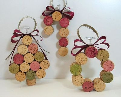 VIEW IN GALLERY wine cork ornaments
