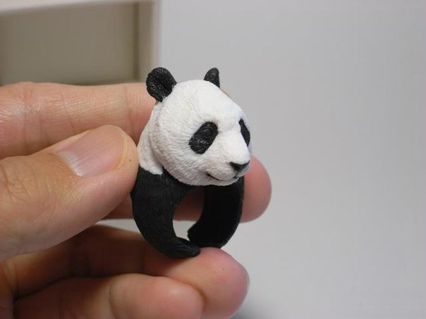 1 Wonderful Handmade Polymer Clay Animal Rings
