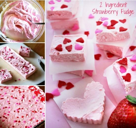 2 Ingredient Strawberry Fudge wonderfuldiy1 Wonderful DIY Easy Strawberry Fudge with 2 Ingredients