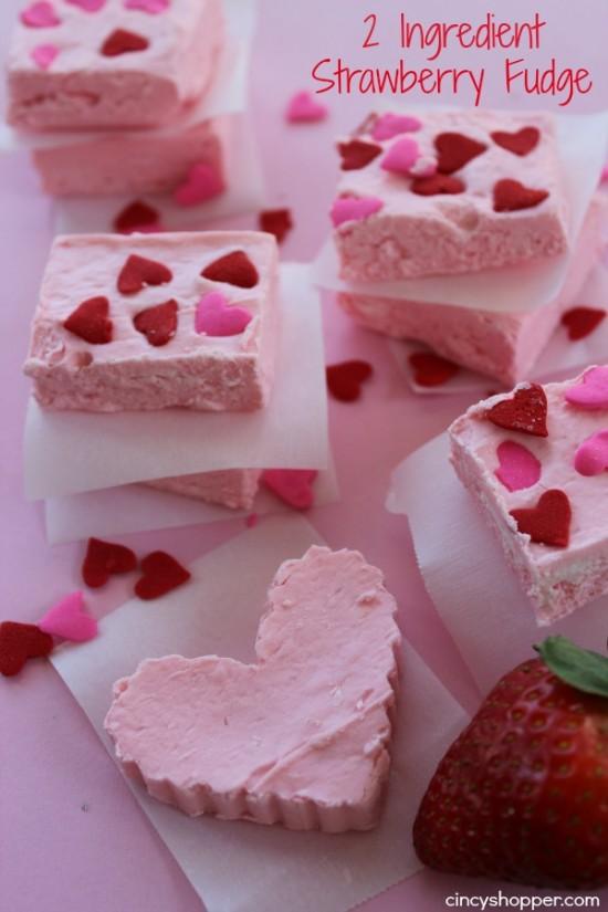 2 Ingredient Strawberry Fudge wonderfuldiy2 Wonderful DIY Easy Strawberry Fudge with 2 Ingredients