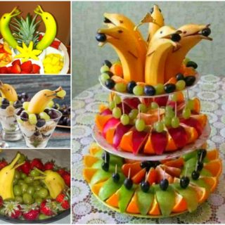 Wonderful DIY Banana Dolphin Fruit Platter