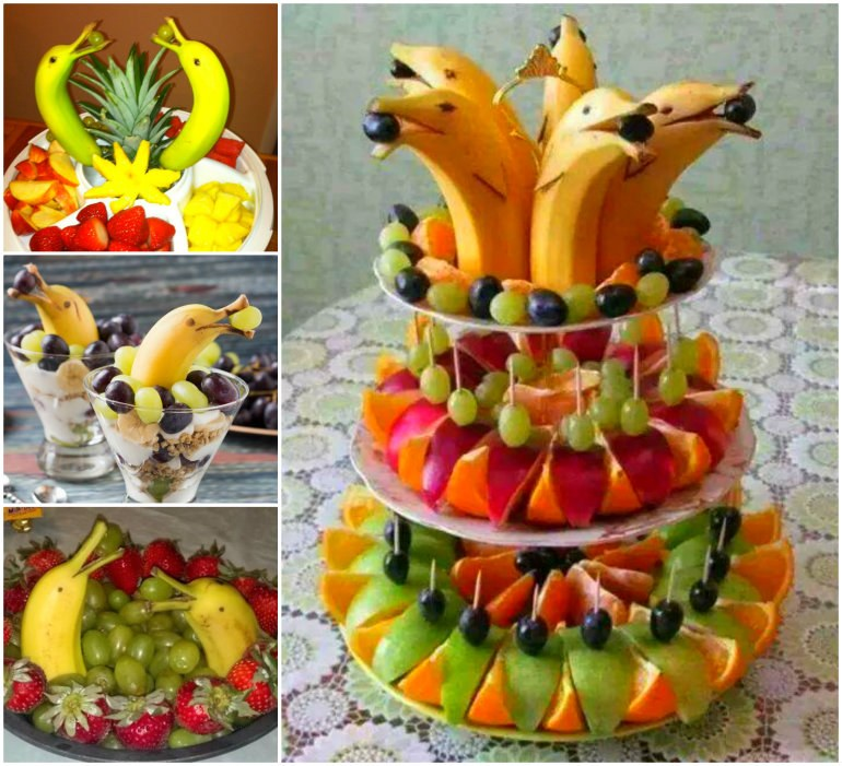 Banana Dolphin Fruit Platter wonderfuldiy Wonderful DIY Banana Dolphin Fruit Platter