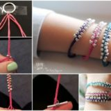 Wonderful DIY Simple Braided Beaded Bracelet