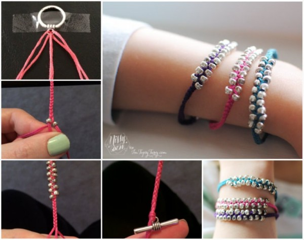 Beaded Bracelets wonderfuldiy Wonderful DIY Simple Braided Beaded Bracelet