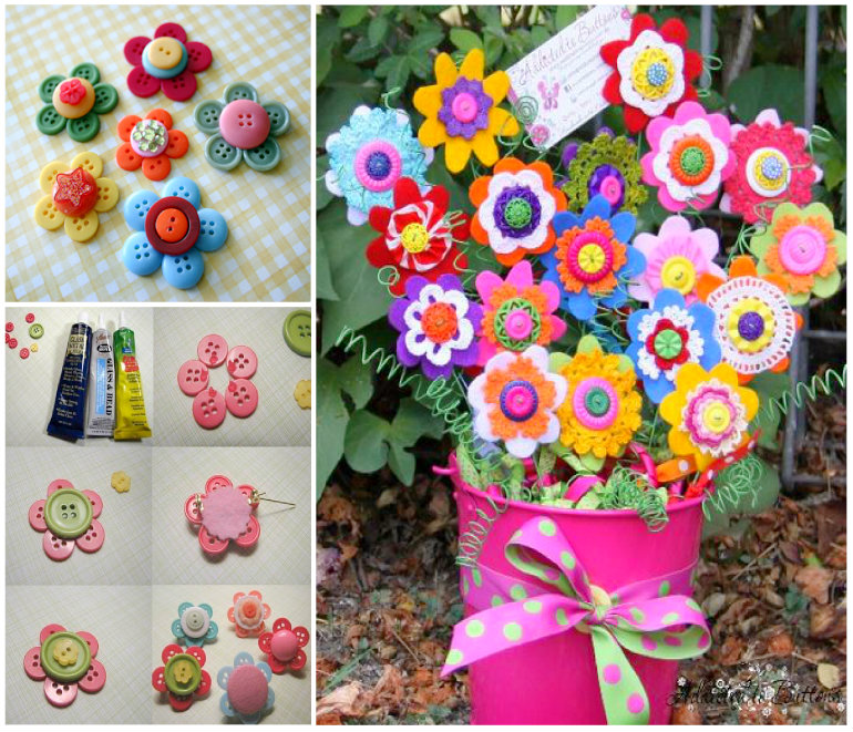 Button-Flowers-wonderfuldiy