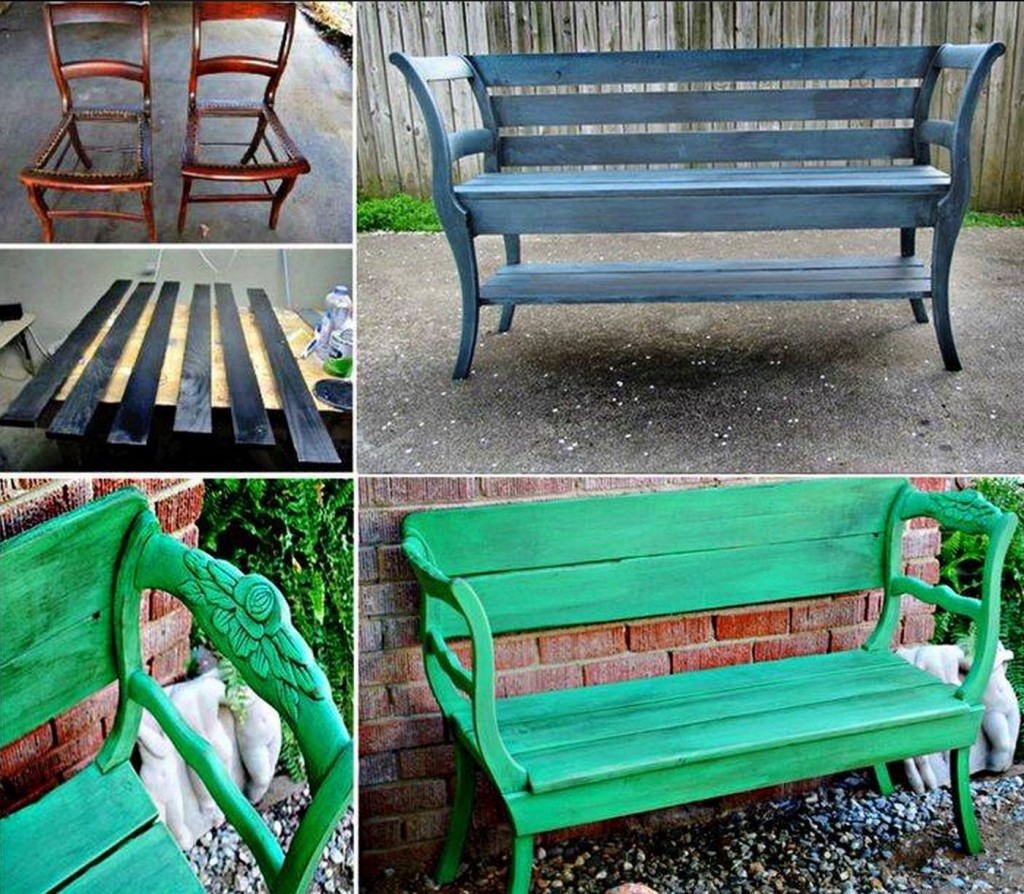 Chair Bench Makeover  Wonderful DIY Upcycled Chair Bench