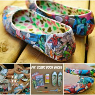 Wonderful DIY Unique Comic Book Shoes