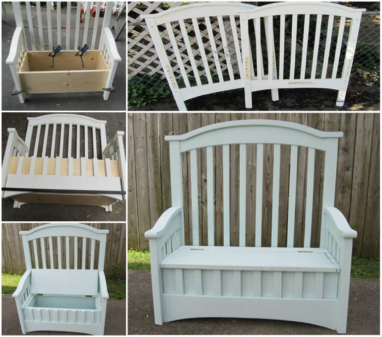 Cot Storage Bench wonderfuldiy Wonderful DIY Upcycled Chair Bench