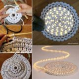 Wonderful DIY Crochet Lights Rug for Living room