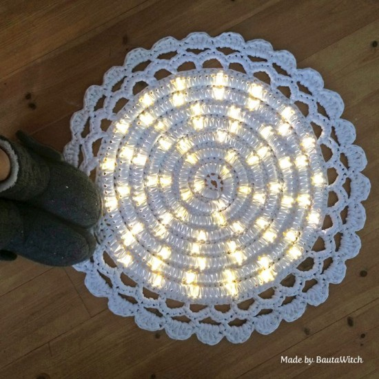 Wonderful Diy Crochet Lights Rug For Living Room