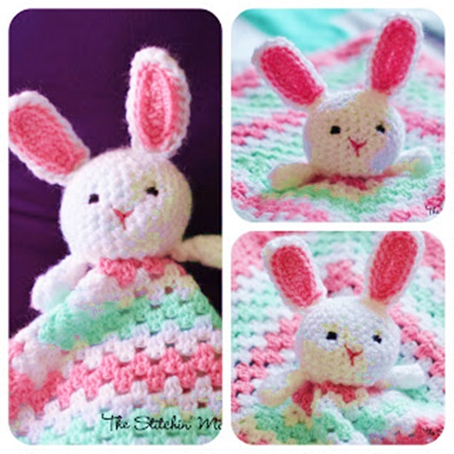 Crochet bunny lovey blanket free pattern wonderfuldiy Wonderful DIY Crochet Bunny Lovey Blanket with Free Pattern