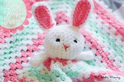 Crochet bunny lovey blanket free pattern-wonderfuldiy1